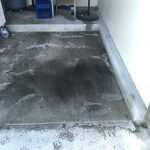 In the process of cleaning concrete, look at the dirt as we start the process to clean it off with pressure washing