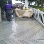 Cleaning a deck off in Orange County