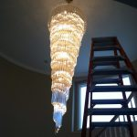 A job done right, just completed a chandelier cleaning
