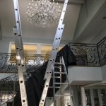 Chandelier cleaning done in Orange County by Stanley Window Care