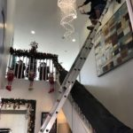 Cleaning the hard to reach chandelier in Orange County