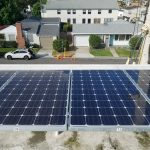Left picture is before and right is after solar panel cleaning is complete, big difference