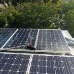 Big solar panel cleaning job